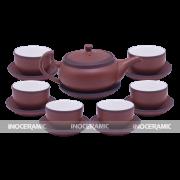 Bộ trà tử sa đỏ son ganh to - quà tết cao cấp