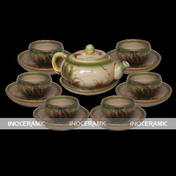 Bộ ấm trà men rêu - Quà tặng Tết cao cấp tại Q.2
