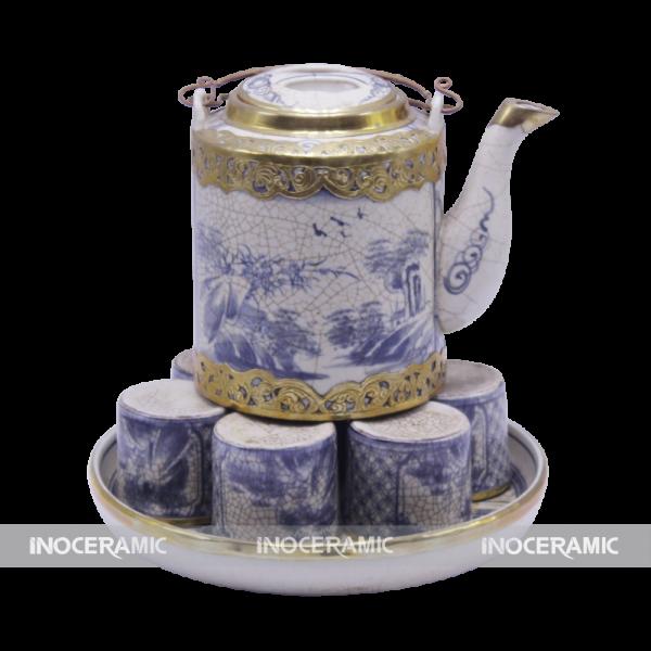 Bộ trà bọc đồng cao cấp