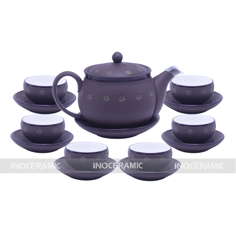 Bộ trà tử sa sao xanh