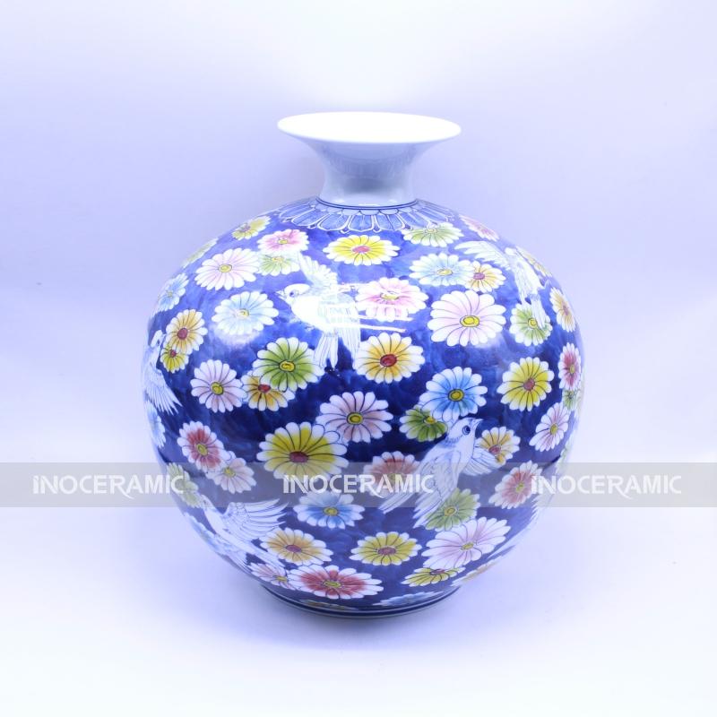 Lọ hoa vạn khí khai xuân - Bình hoa trang trí phong thủy