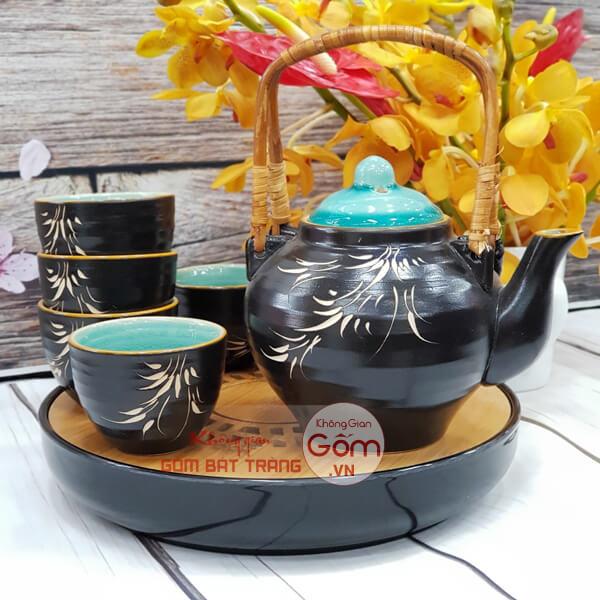 Ấm chén Bát Tràng đẹp giá rẻ nhất uống trà Xanh
