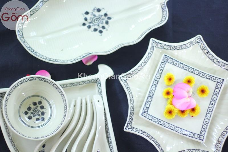 Bộ bát đĩa quê, phong cách truyền thống ẩm thực Việt Nam