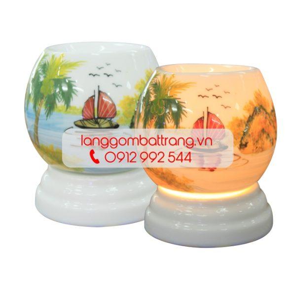 mẫu đèn xông tinh dầu Bát tràng nhỏ đẹp mini số 4