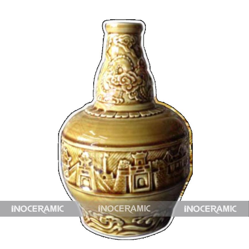 sản xuất bình rựu gốm Long AN
