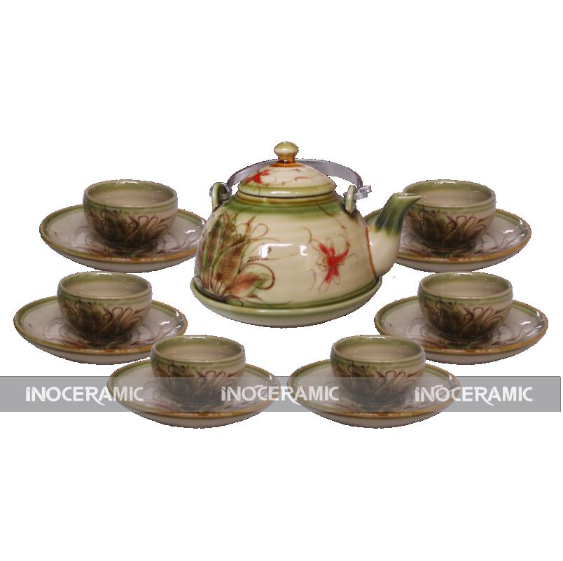 Cung cấp ấm trà men rêu tại Bắc Giang