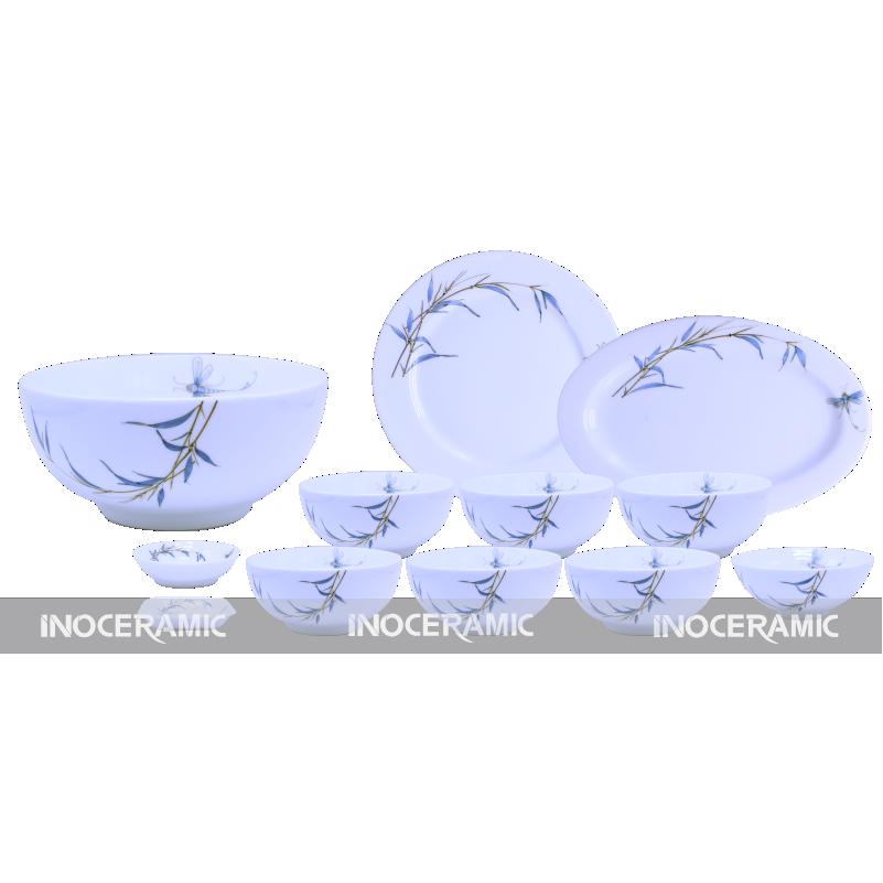 quà tặng tết Gia Lai - bát đia Bát Tràng , bộ bàn ăn hình trúc