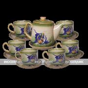 bộ trà men rêu cafe cao