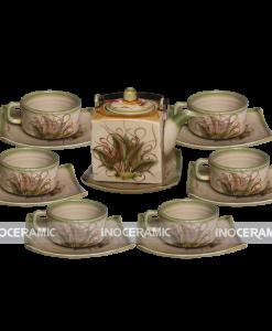 Bộ trà Bát Tràng cafe vuông to