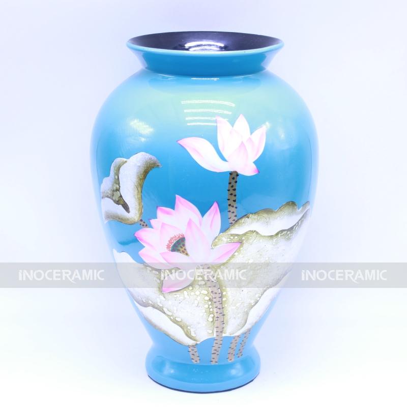 lọ hoa cổ loe xanh - lọ hoa đẹp