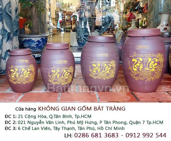 Địa chỉ chuỗi cửa hàng không gian gốm chuyên cung cấp hũ đựng gạo gốm sứ Bát Tràng