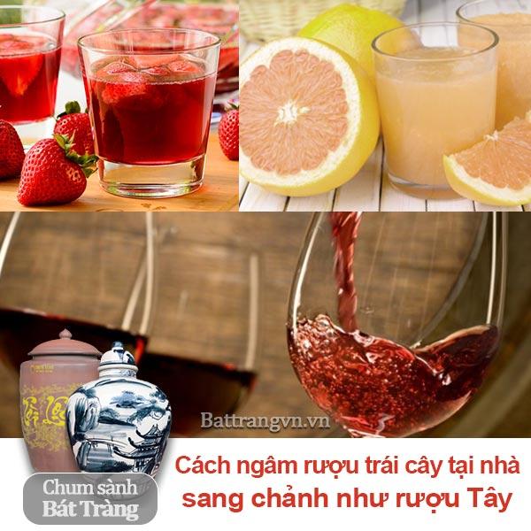 Cách ngâm rượu trái cây tại nhà sang chảnh như rượu tây