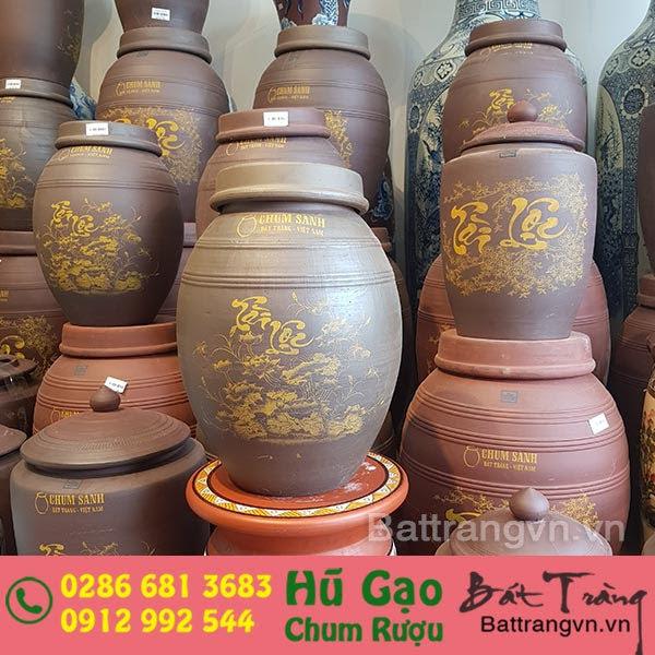 Chọn hũ đựng gạo bằng gốm sứ Bát Tràng