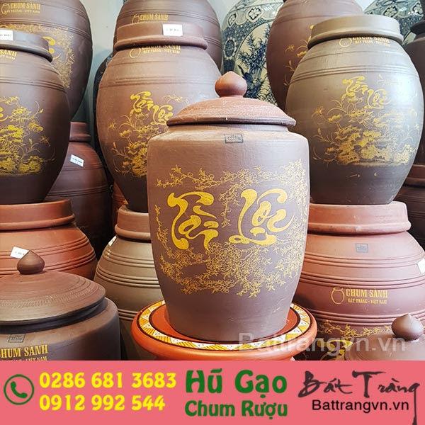 Hũ đựng gạo gốm sứ Bát Tràng cao cấp