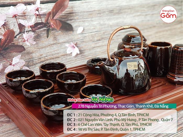 Ấm chén Bát Tràng đẹp tại Đà Nẵng │Ấm trà gốm sứ - Không Gian Gốm