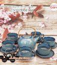 Ấm chén uống trà cao cấp Bát Tràng men ngọc │Không Gian Gốm