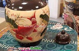 Bình gốm sứ chum vò ngâm rượu Đà Nẵng - Gốm sứ Bát Tràng