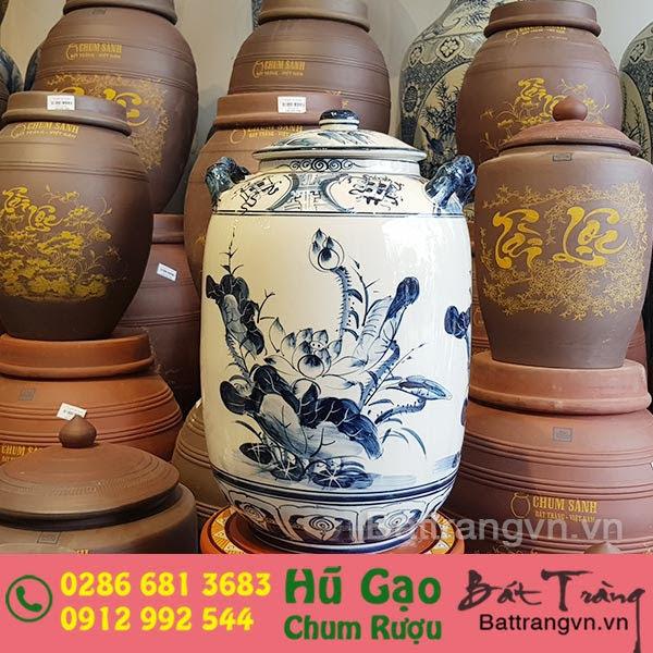 bình ngâm rượu Bát Tràng tại Tây Ninh 1