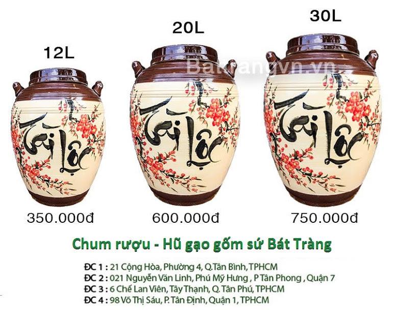 bình ngâm rượu Bát Tràng tại Tây Ninh 3