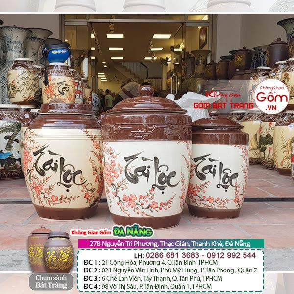 Cửa hàng bán hũ gạo Tài Lộc gốm sứ tại Đà Nẵng