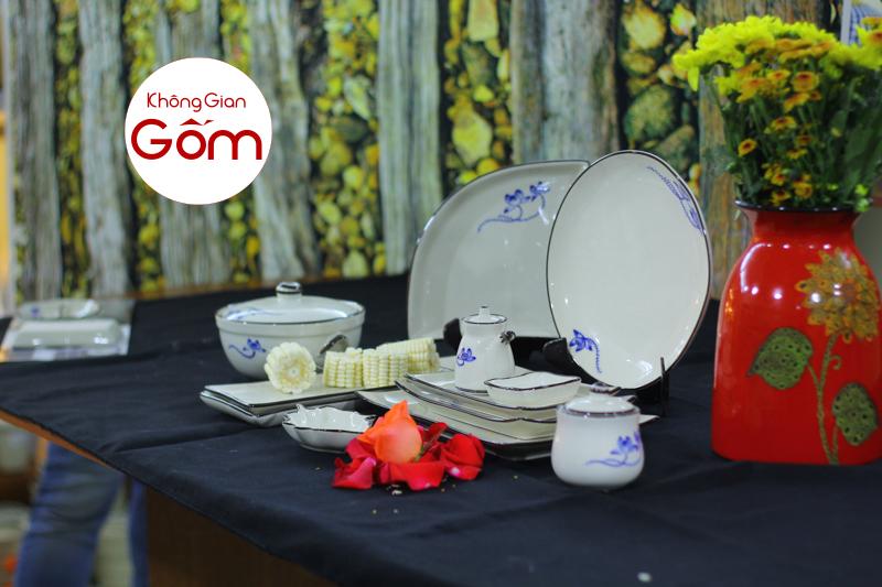 Một số mẫu Bát đĩa nhà hàng cao cấp bán chạy nhất tại Không Gian Gốm