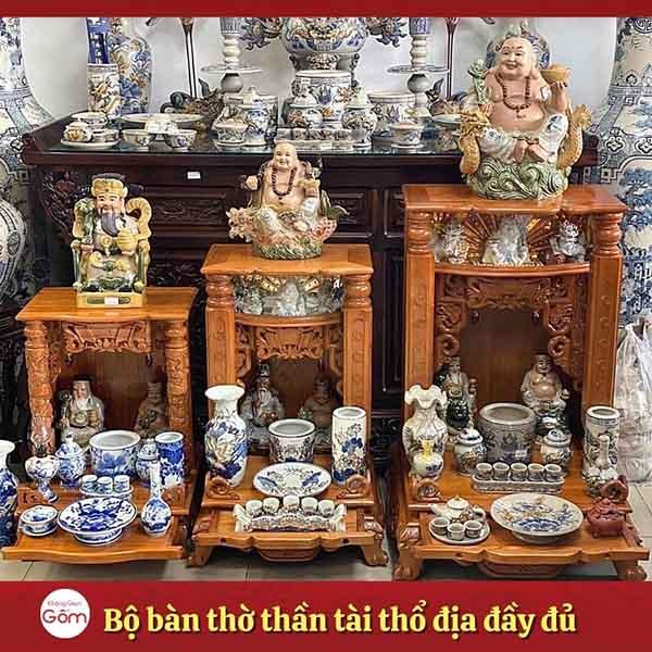 Nơi mua vật phẩm thờ Thần Tài Thổ Địa nhiều mẫu mã, kích thước TpHCM
