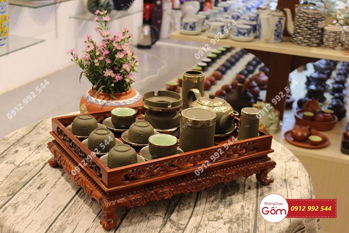 Nơi bán khay đựng ấm chén bằng gỗ đẹp cao cấp tại TP.HCM - Hà Nội