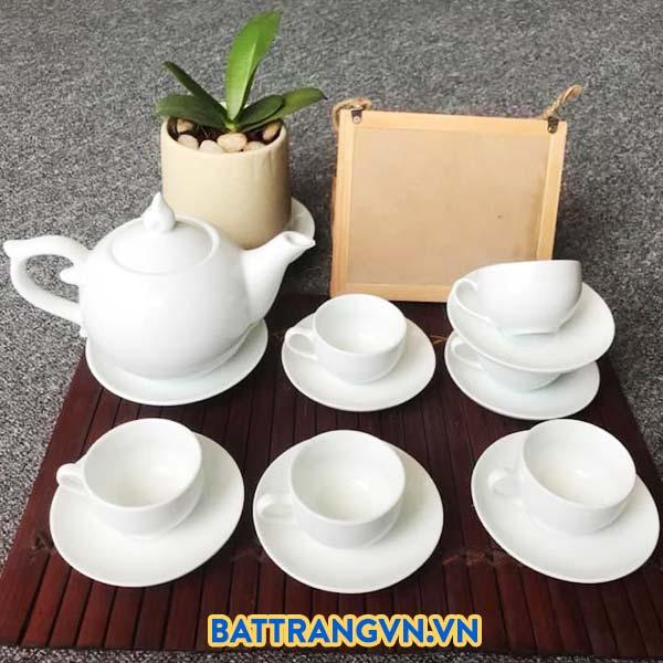 SEO title preview:Bộ trà sứ trắng trơn dáng tròn 01