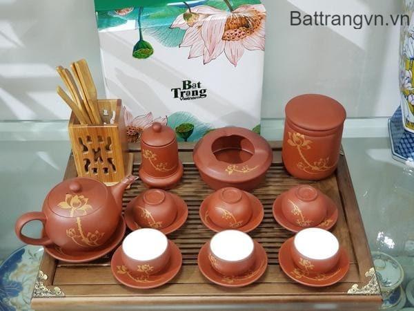 mẫu bộ ấm trà đẹp gốm sứ