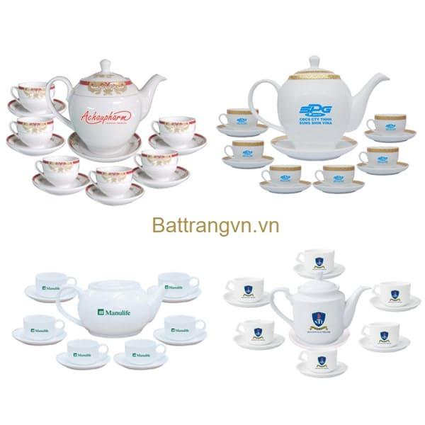 bộ trà in logo