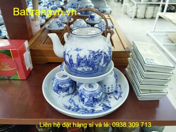 bộ trà men xanh