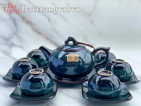 Bộ ấm chén gốm sứ cao cấp - Quà tặng gốm sứ 30-4 biếu đối tác, khách hàng