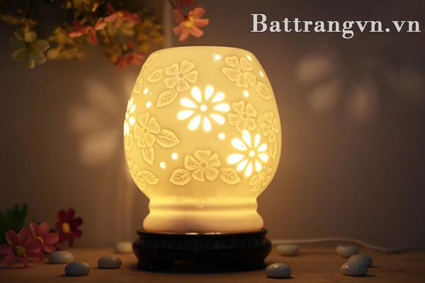 Đèn xông tinh dầu gốm sứ - Quà tặng gốm sứ 30-4 biếu đối tác, khách hàng