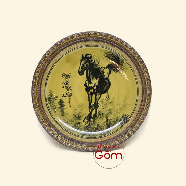Mẫu đĩa sứ trang trí phong thủy - Mua đĩa sứ cao cấp làm quà tặng HCM