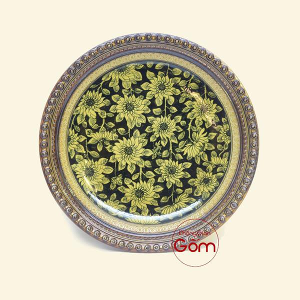 Mẫu đĩa sứ trang trí phong thủy hoa Hướng Dương