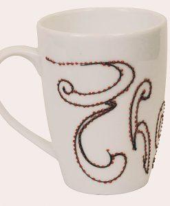 ly vẽ chữ, vẽ chữ in ấn lên ly sứ làm quà tặng