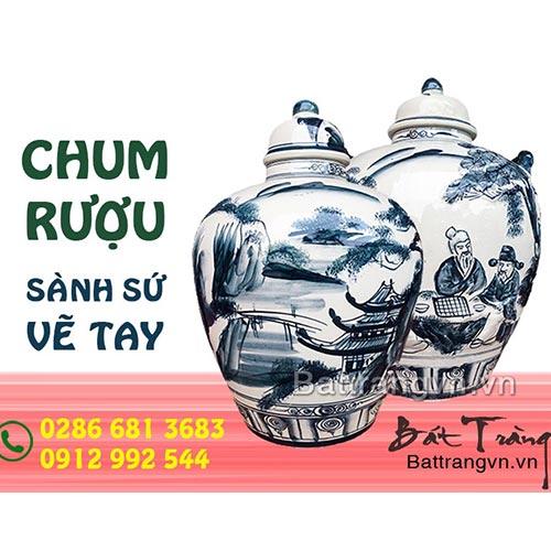 Chum sành tại TPHCM - Mua bình ngâm rượu, vò rượu Bát Tràng Sài Gòn