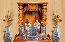 Bộ bàn thờ ông địa, thần tài tại Bình Thạnh