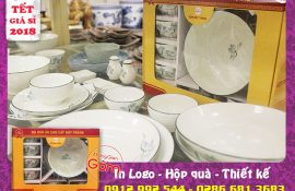 Mê mẩn vẻ đẹp bát đĩa quà biếu tết tại Tân Bình