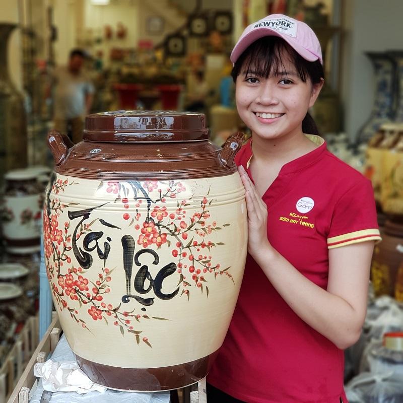 Đến không gian gốm mua hủ đựng gạo đẹp