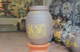 Hũ gạo 10 kg gốm sứ Bát Tràng