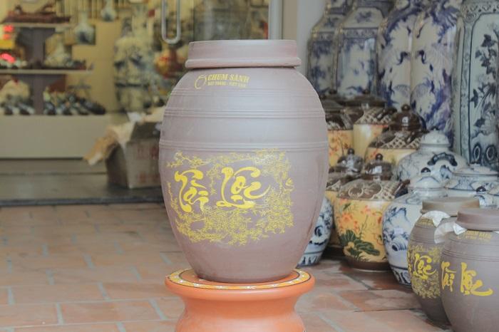 Hủ gạo khạp gạo Bát Tràng 25 kg