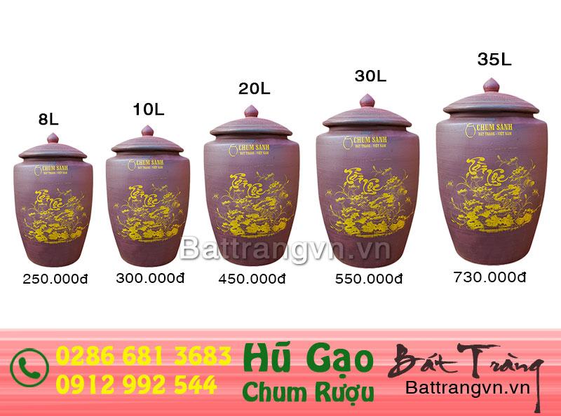Hũ gạo Tài Lộc Bát Tràng đất nung - đồ gốm Bát Tràng chính gốc