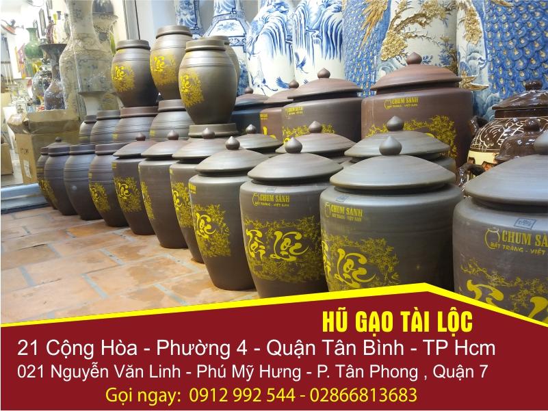 Hũ gạo Tài Lộc Bát Tràng