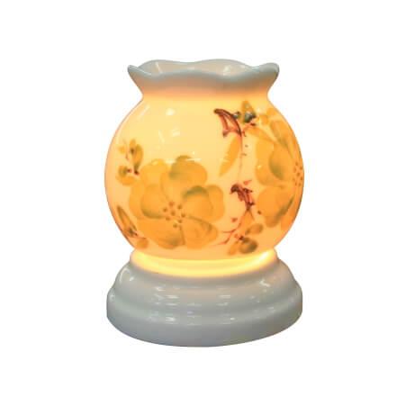 mẫu đèn bát tràng tinh dầu đẹp, mẫu số 8 dáng tròn mini