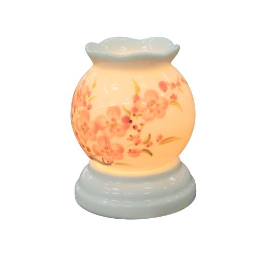 Mẫu đèn xông tinh dầu tròn mini số 2 đẹp - đèn xông tinh dầu Bát Tràng